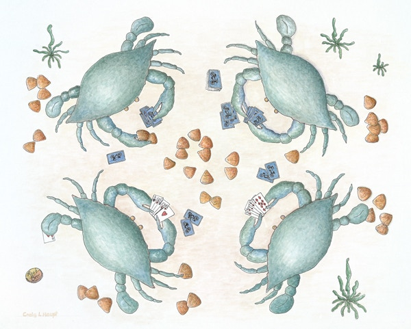 #4 - 8 x 10 inch, 'Raise you Two Clams' Hand signed Giclee print