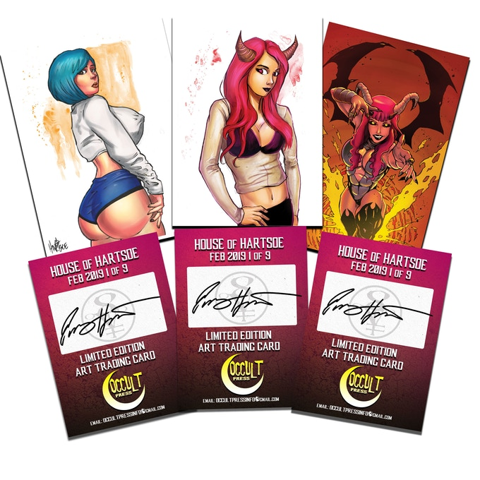 MAKE SURE YOU GET OUR NEW LINE OF PROMO TRADING CARDS