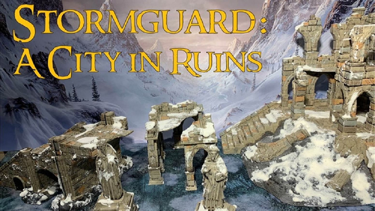 Stormguard is a set of highly detailed 3D printable fantasy ruins (STL files)  featuring dragonbite technology for your home printer.