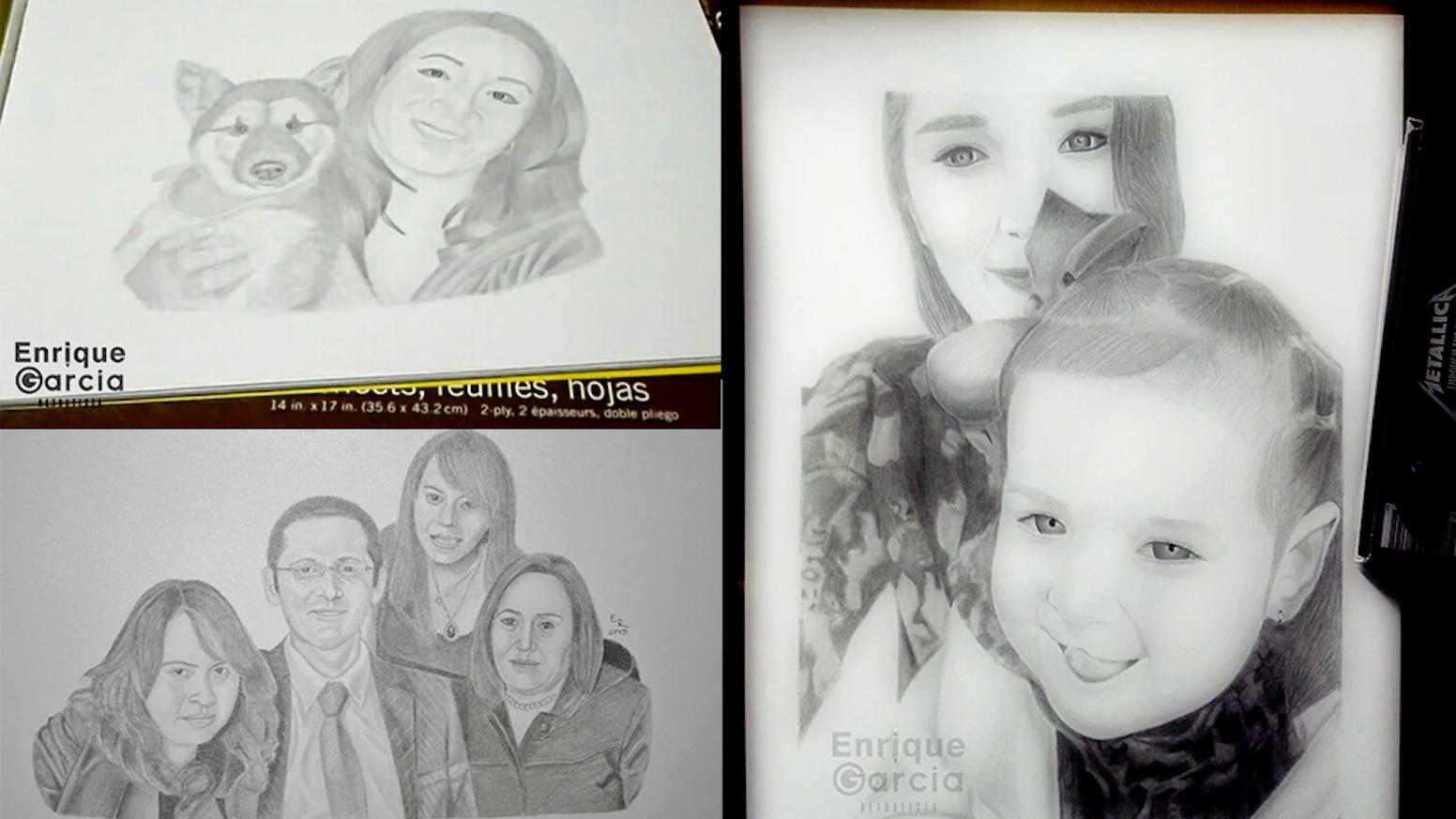 Portraits by enrique g pencil drawing commission