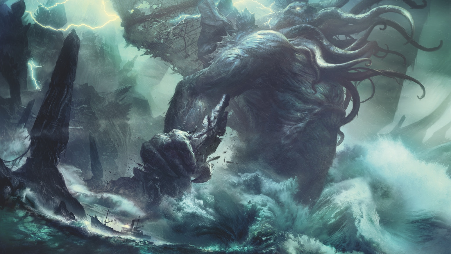 Let Cthulhu rise from the pages of this beautifully illustrated book