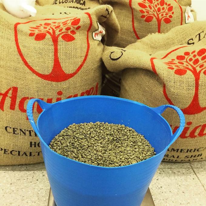 Aquiares coffee, ready to roast