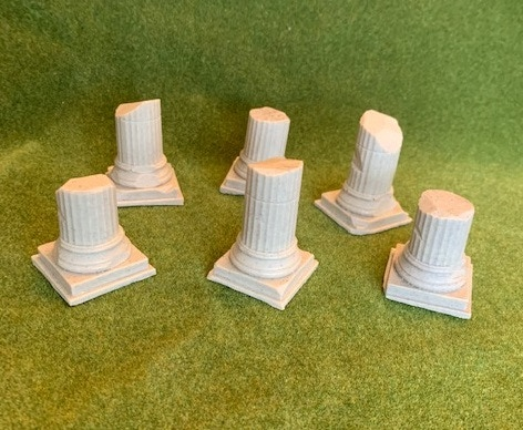 Pillars are supplied so they can be added to scenery as per you preference!!!