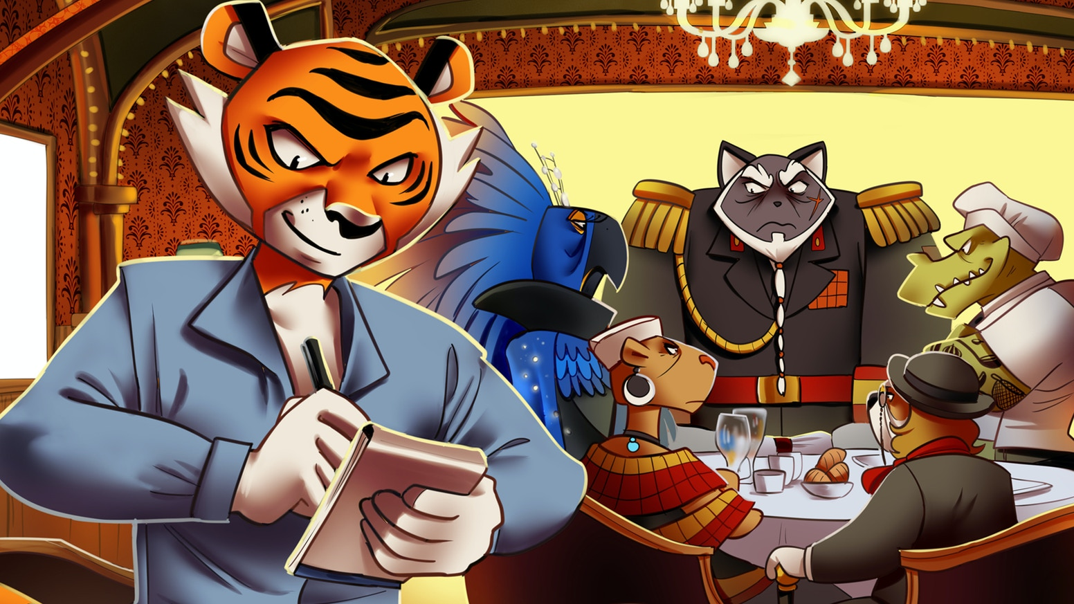 Part Robin Hood, part Ocean's Eleven, and beautifully illustrated, Hot Lunch is a dramatic heist story set in an anthropomorphic Japan.