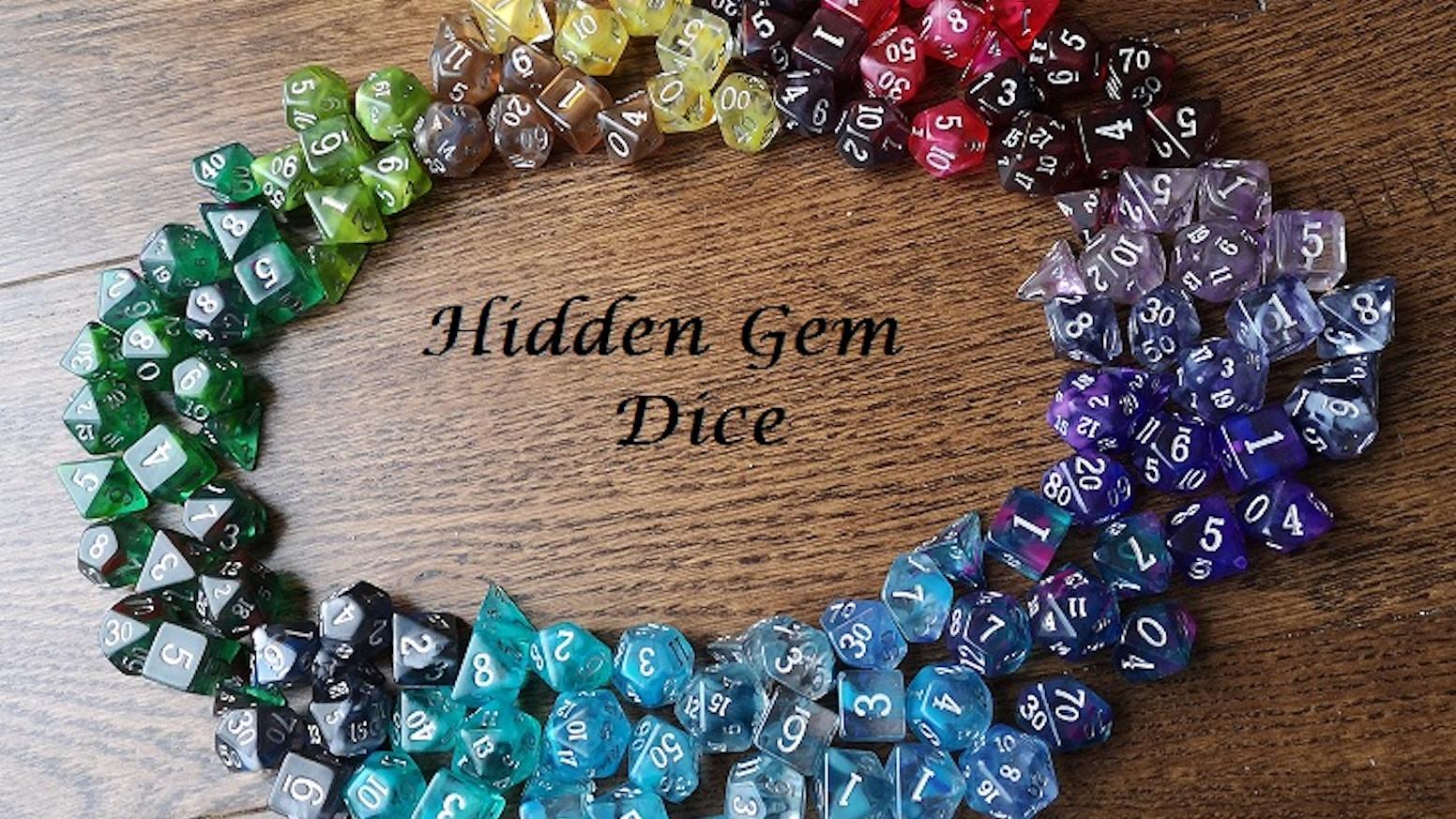 Infused Acrylic Dice designed around Beautiful Gemstones.