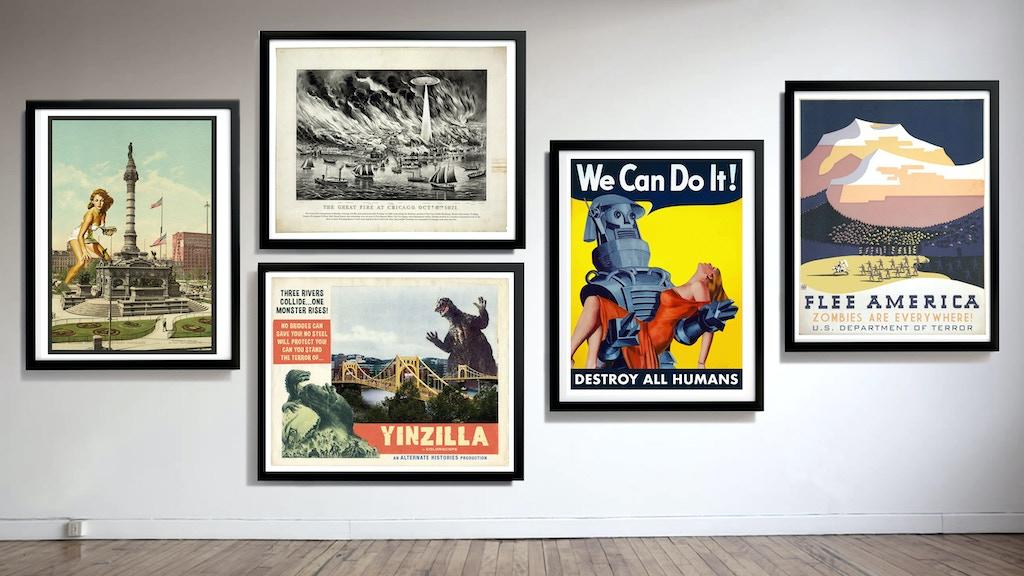 Large Scale Alternate Histories Art Prints