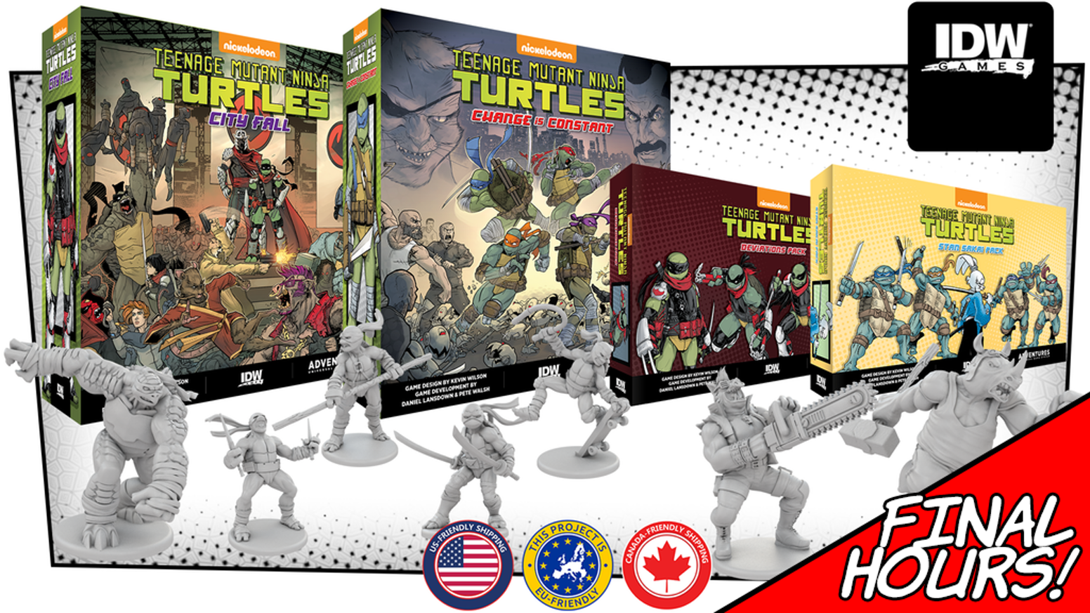 The Teenage Mutant Ninja Turtles are back with two games in the Adventures system that feature all new missions, minis, and enemies!