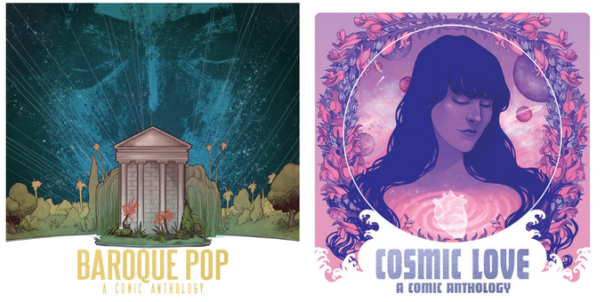 """Lover to Lover"", get print copies of COSMIC LOVE, plus sister-title BAROQUE POP, inspired by the music of Lana Del Rey."