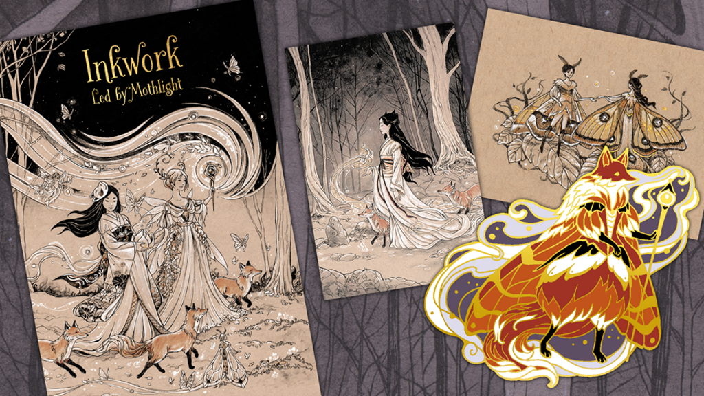 Inkwork Fairy Tale Artbook and Moth Fairy Pin - Make/100 project video thumbnail