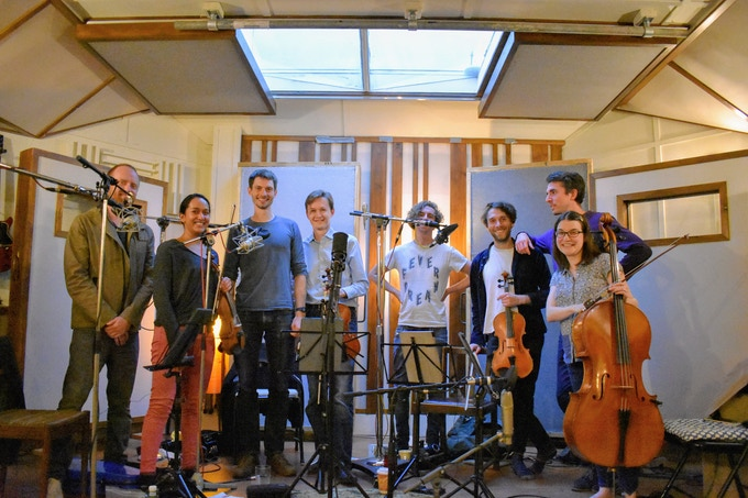 The recording team at Soup Studios!
