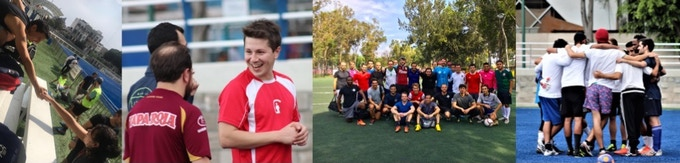 Play sports with people from all over the world