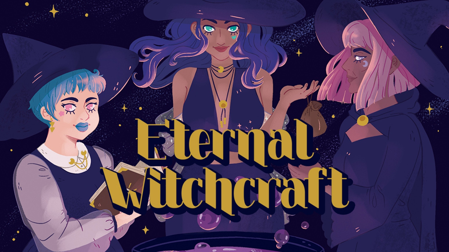 Eternal Witchcraft is a spellbook/anthology of witchy instructional comics for Crones and Aspiring Crones alike.