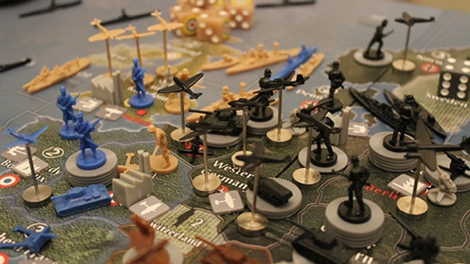 Metal Flight Stands In Use in Axis and Allies 1940 Europe - Take your air power to the skies!