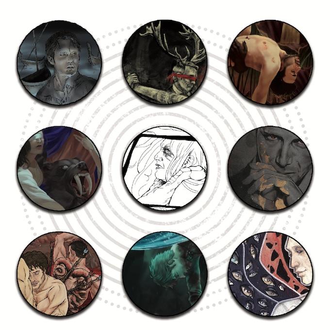 Art sneak peek with works by Rebecca Linz, Winter_of_our_Discontent, Necronon, SchnellerTod, Camille Flyingrotten, moishpain, Sparkyhero, Ollie McCarthy & Angela Vuskovic