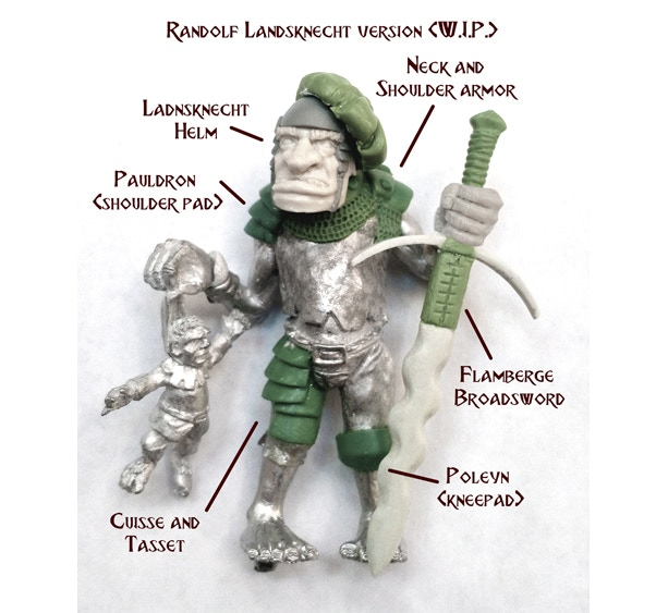 this is a sample of Randolf the Ogre armored and dressed as a Empire Ogre mercenary!