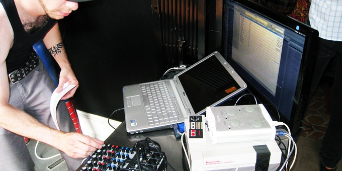 """DJ gig for the """"8-Bit & Beyond"""" art show at Brave New Worlds in Philadelphia, PA (circa 2009)"""