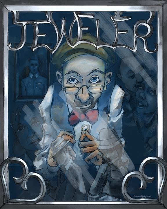 """Inspired by """"The Jeweler's Shop"""". Image copyright James Kegley. Approx print size: 8x10"""