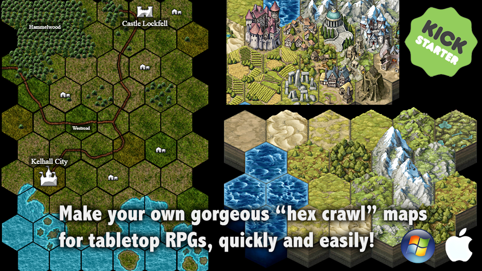 Hex Tile Content Add Ons For Mapforge Map Making Software