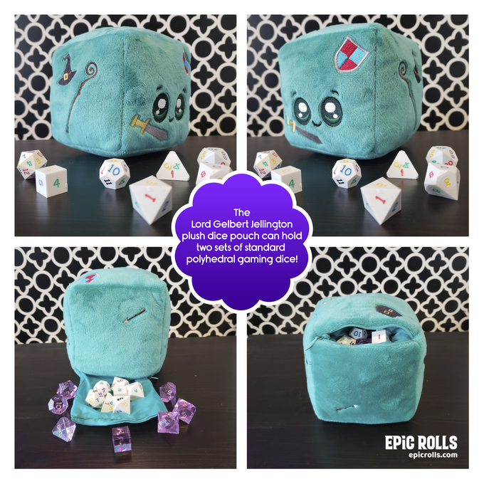 The Lord Gelbert Jellington Plush Pouch Prototype - UPDATE - We have doubled the size of the pouch to hold MORE than two sets of dice!