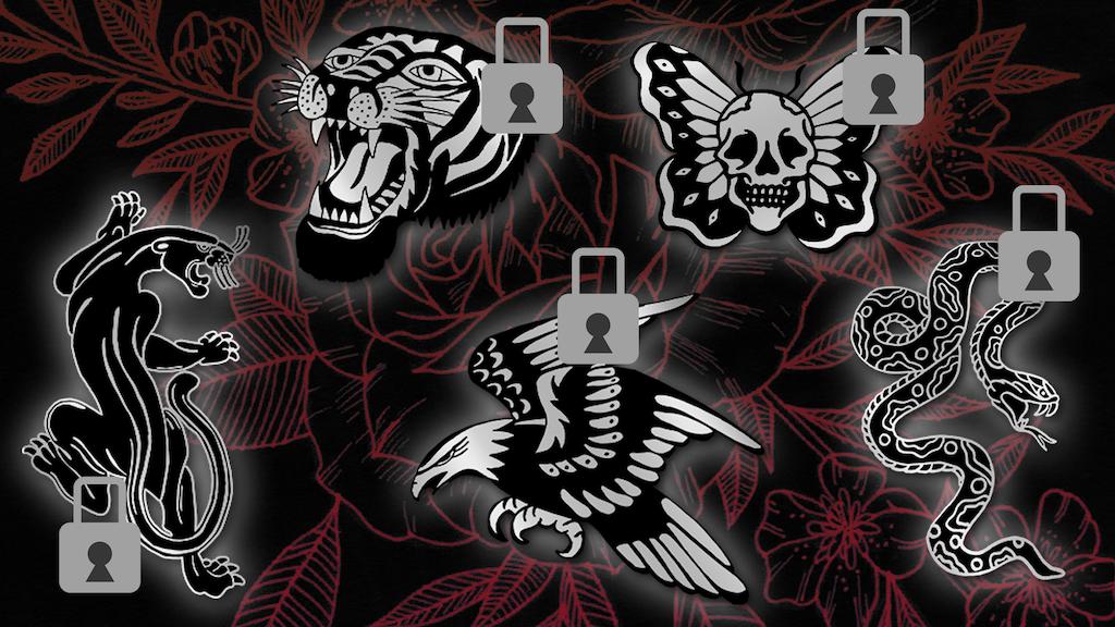Traditional Tattoo Enamel Pins