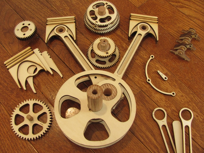 Some of the sub-assemblies for the V-Twin