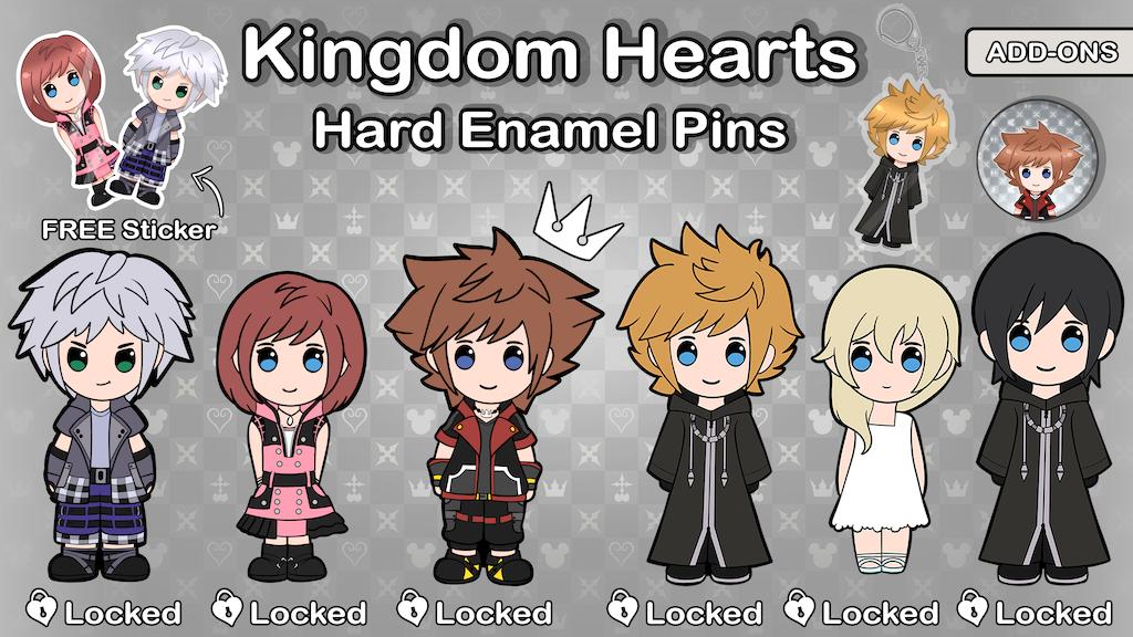 Kingdom Hearts Enamel Pins - Acrylic Keychains - Buttons