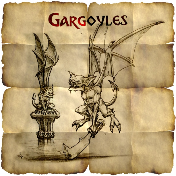 Gargoyles: not as common as kobolds but just as nasty! They bite, they scratch, and they FLY!