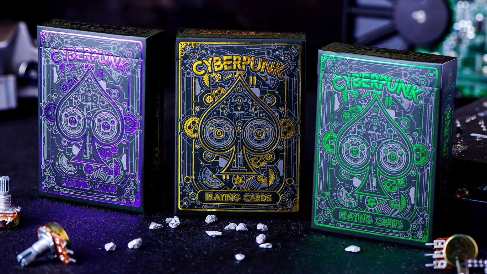 Cyberpunk Playing Cards – Futuristic Sci-Fi Designs Combining Lowlife and High Tech.
