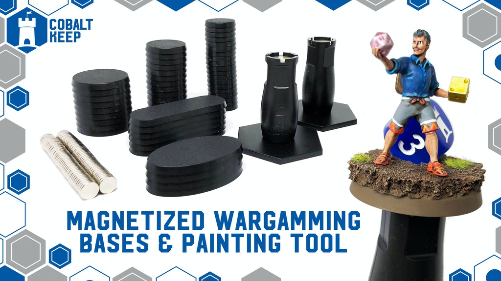 Project image for Wargaming & Tabletop Magnet Bases w/ compatible Paint Handle (Canceled)