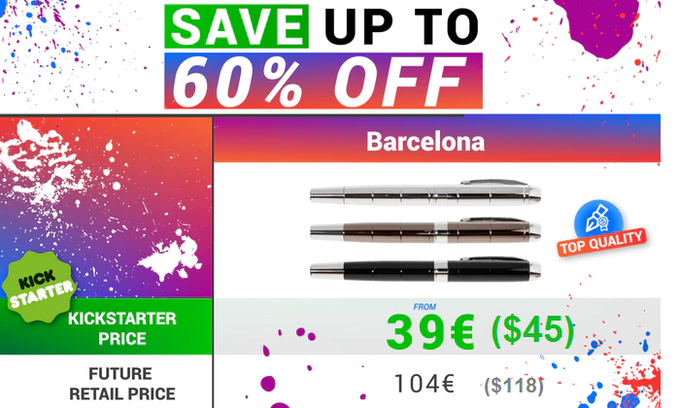FREE SHIPPING WORLD WIDE + FREE 4 ink cartridges (made in EU) $45 is around €39 or £35.