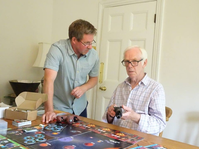 Jeremy Bulloch (aka Boba Fett) is Crassus leader of the Narr Empire and a supporter of FOE the board game.