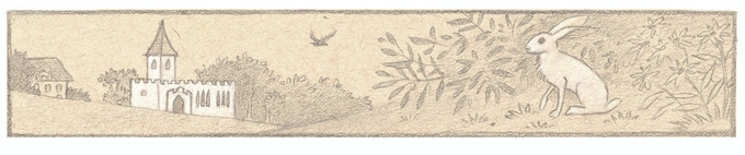Detail of the border for The Old Rectory letter.