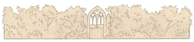 The Gothic Revival gate from The Old Rectory letter.
