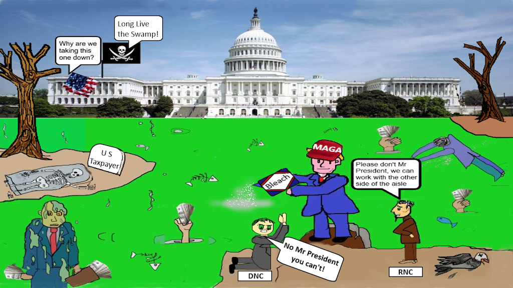 Drain The Swamp Collectors Edition Trading Cards.