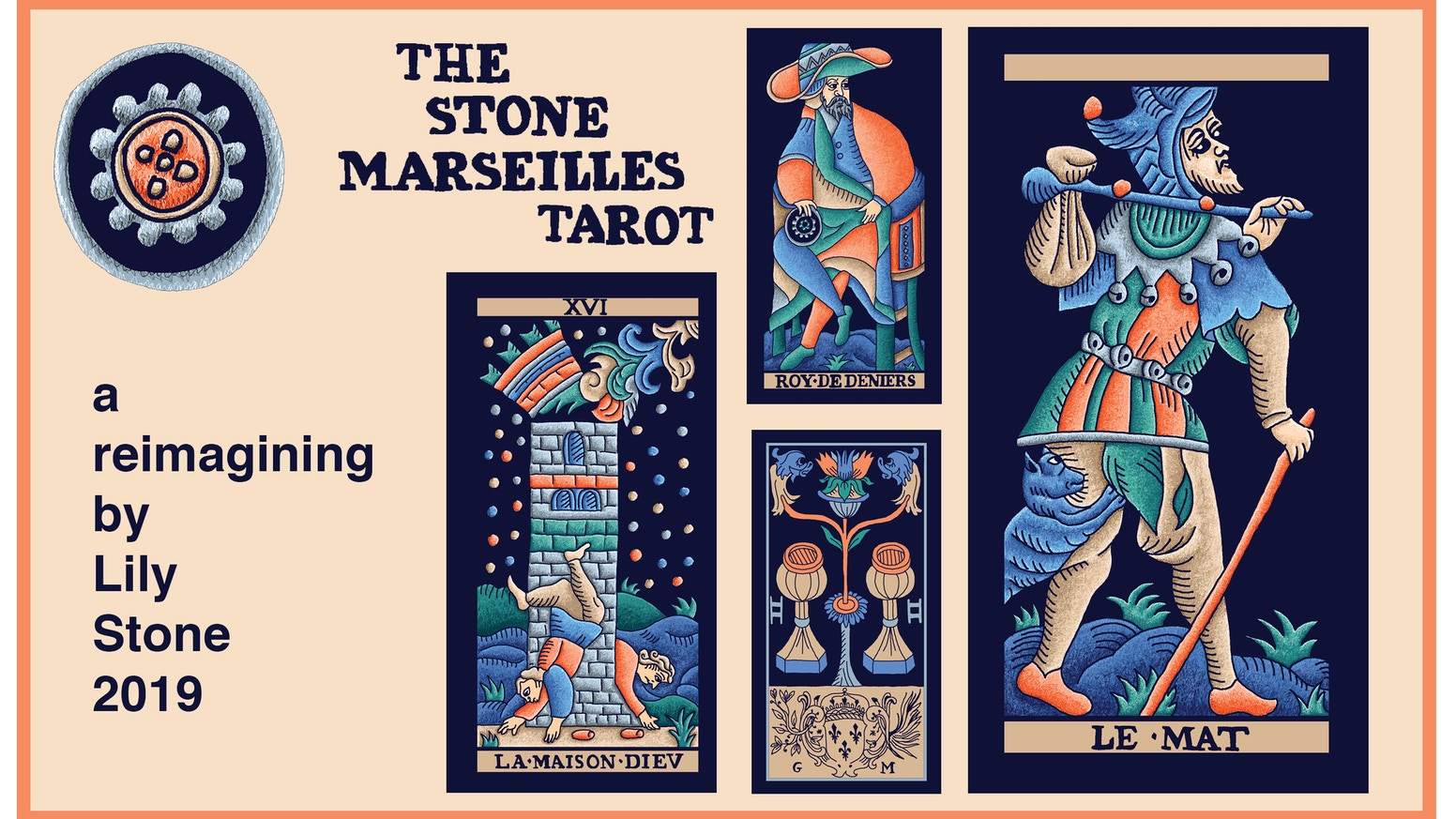 A new tarot deck based on the Marseilles Tarot of Nicolas Conver, circa 1760, reimagined with new depth, color and texture.