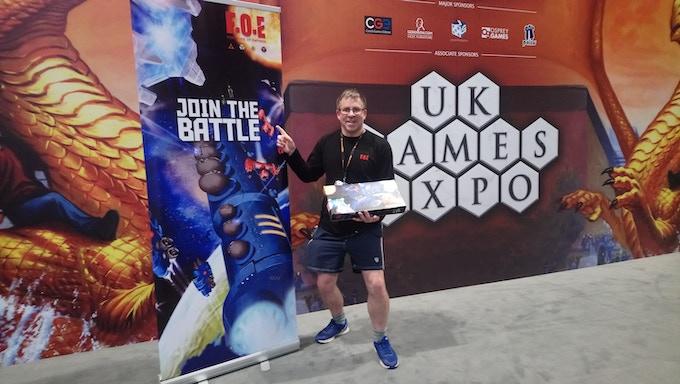Game creator Paul Willis at the UK Games Expo 2018