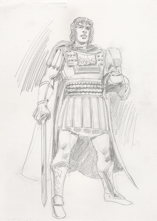 Dick Giordano pencil sketch of Alexander the Great