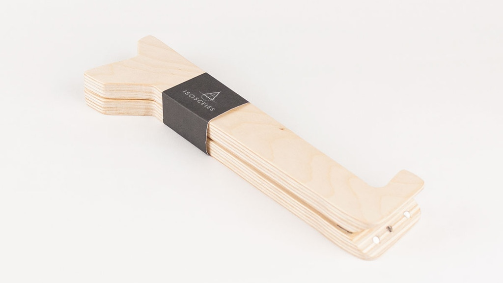 Make 100 Isosceles - Minimalistic foldable laptop stand project video thumbnail