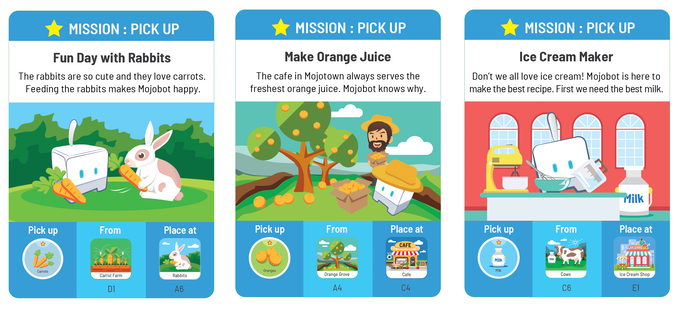 Pick Up Mission: Pick up the Token from the origin location and place at the destination location.