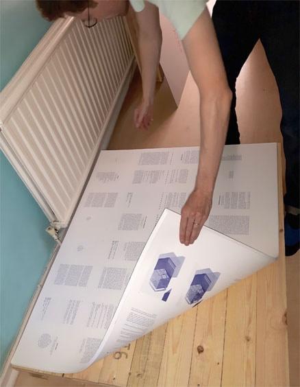 Splitting the printing in the studio.