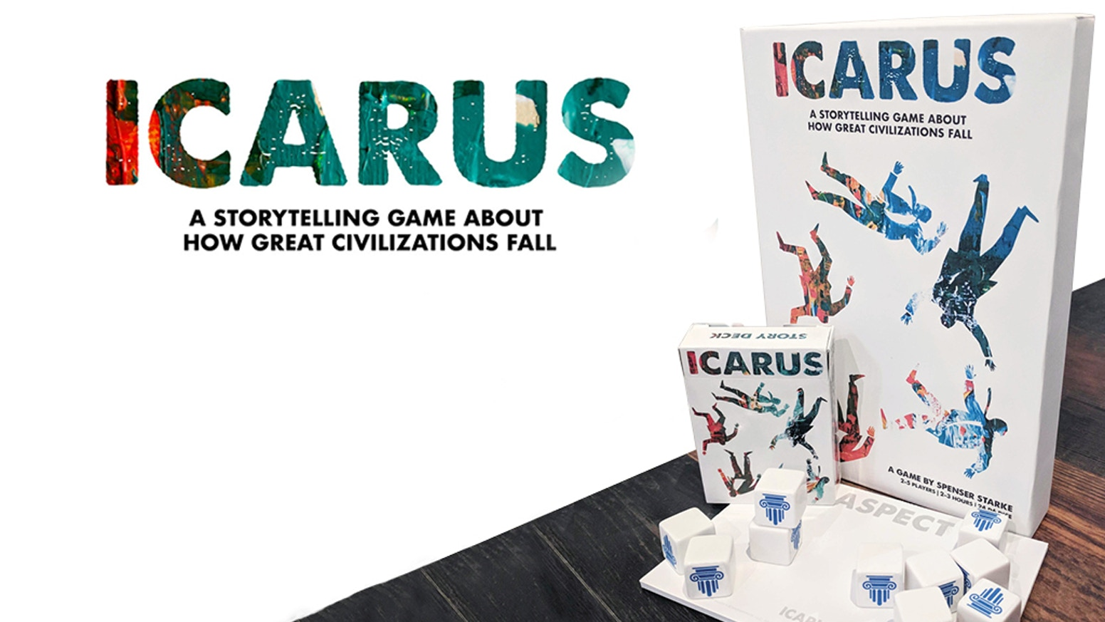 "Build The City-Nation of ""Icarus"" at the height of its power. Then watch it all collapse in this Macro-RPG Dice-Stacking game."