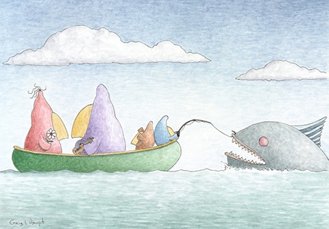#3 - 5 x 7 inch, 'The Canoe Ride', Hand signed Giclee print