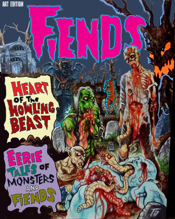 The FIEND Folder this time, will be a new, double splash EERIE PUBLICATIONS TRIBUTE cover. The one above was done for a Fiends #3 alternate cover. What EERIE crap can we come up with THIS time??