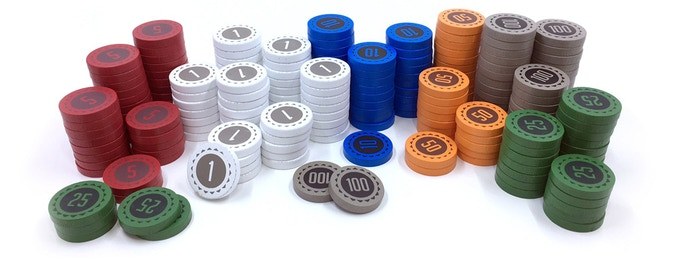 Painted Wooden Money Discs