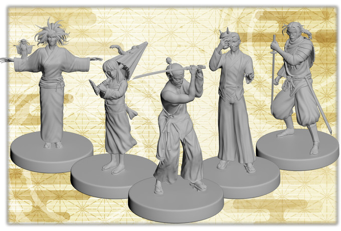 3d miniatures of the Kickstarter Deluxe Edition!