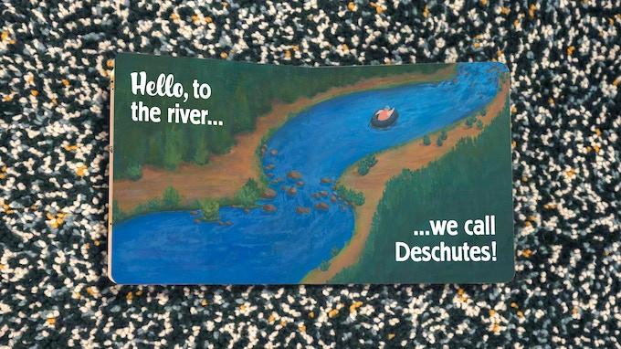 """""""Hello to the River we call Deschutes!"""" Book Spread"""