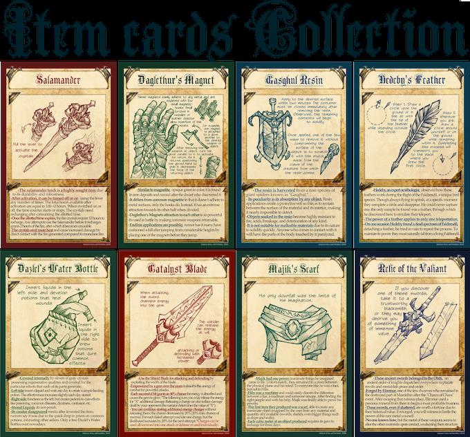 8 PDF/JPG Item Cards