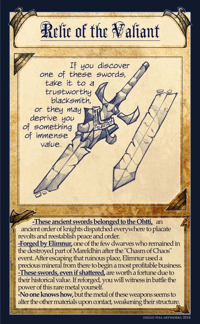 Relic of the Valiant, one example of my Item Cards.