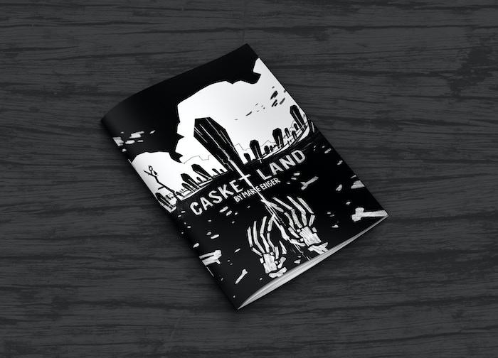 Casket Land book mockup
