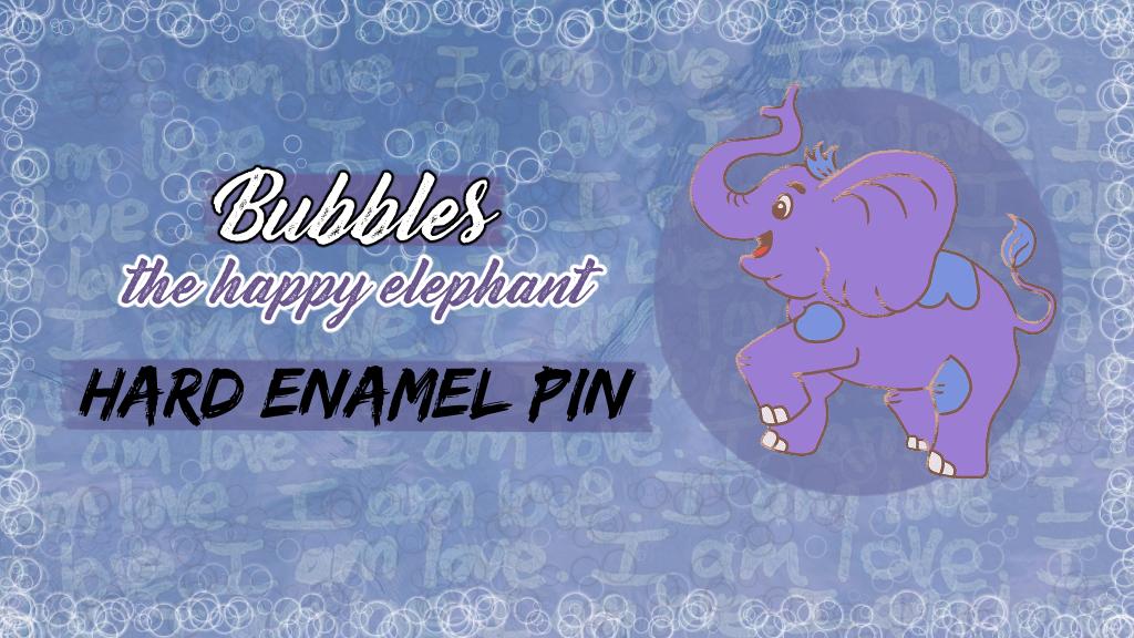 Hard Enamel Elephant Pin (+ sticker bonuses)